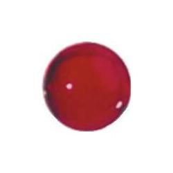 Perle ronde transparente rouge