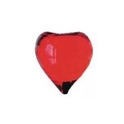 Perle de bain coeur rouge transparent