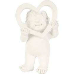 Figurine Ange avec Coeur en céramique (12x7x4 cm)