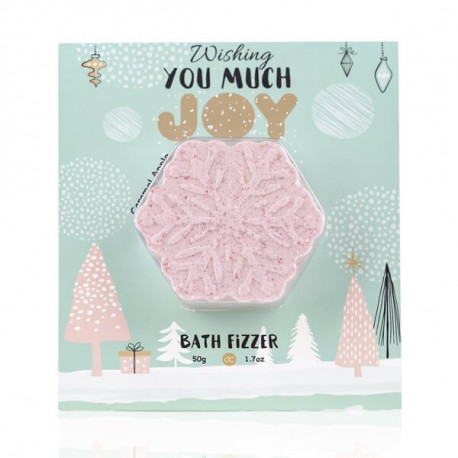 Carte de Vœux HAPPY HOLIDAYS avec boule effervescente tentation cosmetic