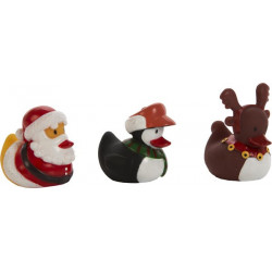 Canard de bain WINTER DUCKS, 3 modèles assortis
