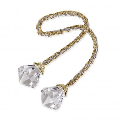 Décoration Diamant sur Cordelette bicolore