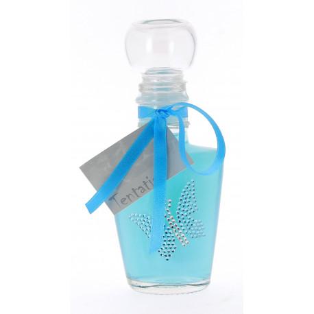 LULU 95 ml, Bleu aqua métallique, déco : Stiker Papillon