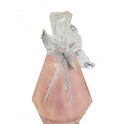 DECANTER 500ml, Rose métallique brillant, déco : Papillon