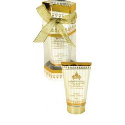 Coffret crème mains et corps 70ml OR (16,5x7 cm), senteur : Vanille