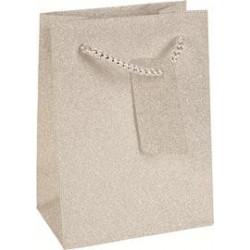 Sac en papier Argent brillant Tentation Cosmetic