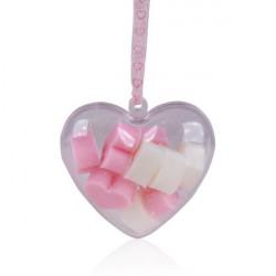 Minis savons au lait de Brebis dans boite cœur Tentation Cosmetic