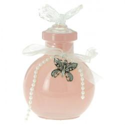 Bain moussant ERIS 100 ml bouchon papillon, Transparent, déco : Perles/Papillon