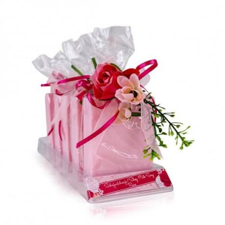 Savons au lait de brebis ROSE COLLECTION Tentation Cosmetic