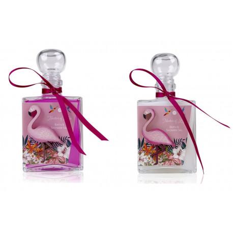 Bain moussant CAPRI Blanc neige & Fuchsia transparent - 200ml Tentation Cosmetic
