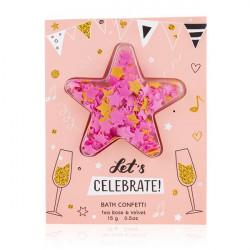 Carte de Vœux contenant des confettis de papier de savon LET'S CELEBRATE