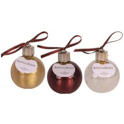 BOULE 250 ml Transparent à paillettes étoiles/Or métallique/Bordeaux nacré paill tentation cosmetic