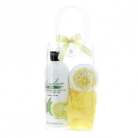 Coffret NATURALIUM (31x11x5.5 cm), senteur : Herbal Lemon