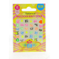 Stickers pour ongles 'NEON LETTRES'