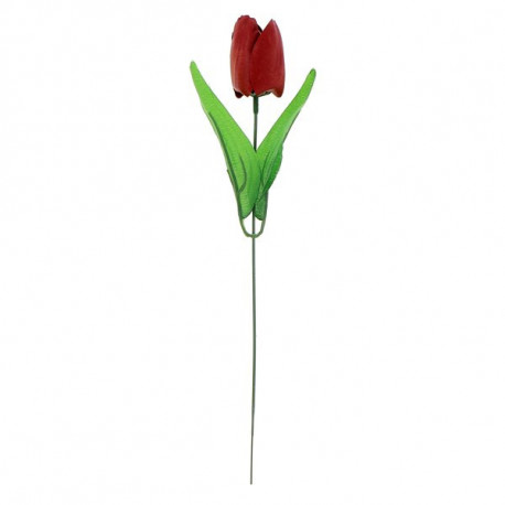 Tulipe en papier de savon 4g ROUGE, senteur : ROSE, en display