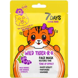 ANIMAL MASK Masque soin visage en tissu TIGRE-RRRR