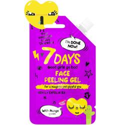 7 DAYS YOUR EMOTIONS TODAY Gel gommage visage pour vilaines et espiègles