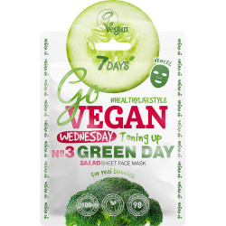 7DAYS GoVEGAN Salads Masque soin visage en tissu Wednesday GREEN DAY (Mercredi j