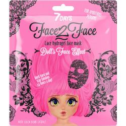 Masque soin visage en dentelle Hydrogel - 7 DAYS FACE2FACE