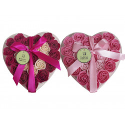 Coffret coeur de Roses de savon