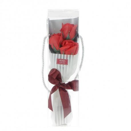 Coffret bouquet de 3 roses en confettis de bain
