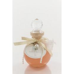 Bain moussant ERIS 110 ml, Abricot transparent, déco : Plume/Perle