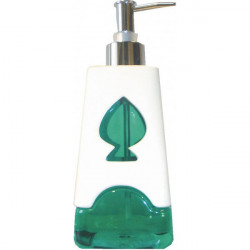 Distrubiteur savon liquide 430ml, vert transparent